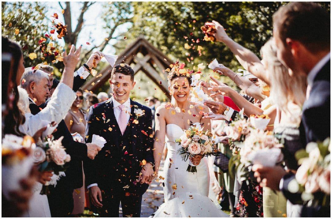 confetti at millbridge court wedding