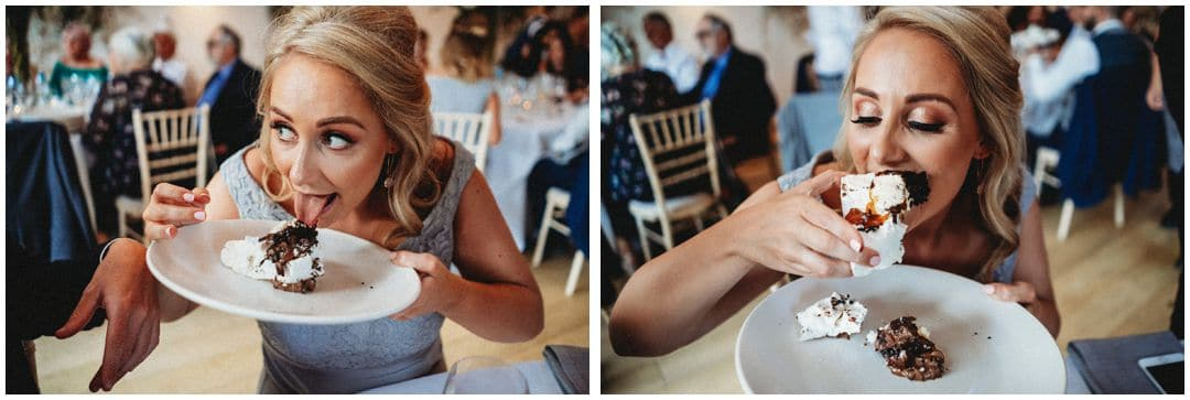 How to cut wedding cake