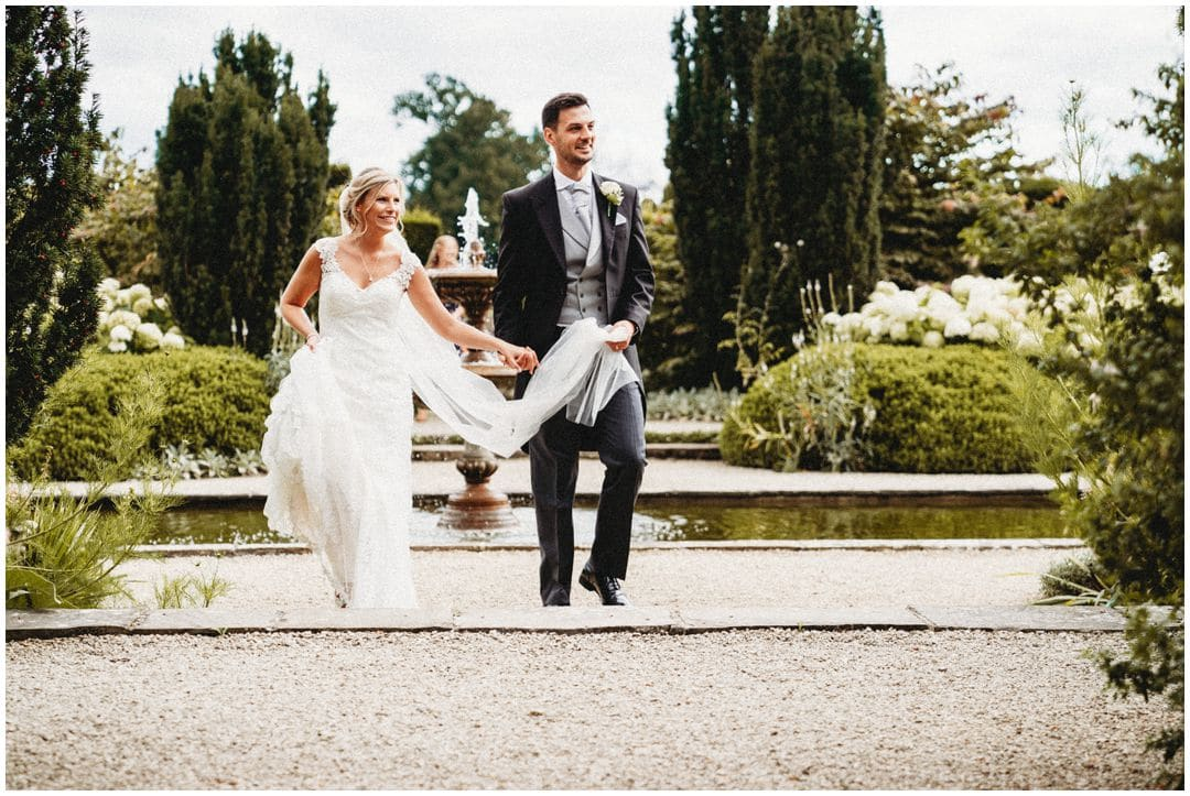 Loseley Park Wedding Photography fountain