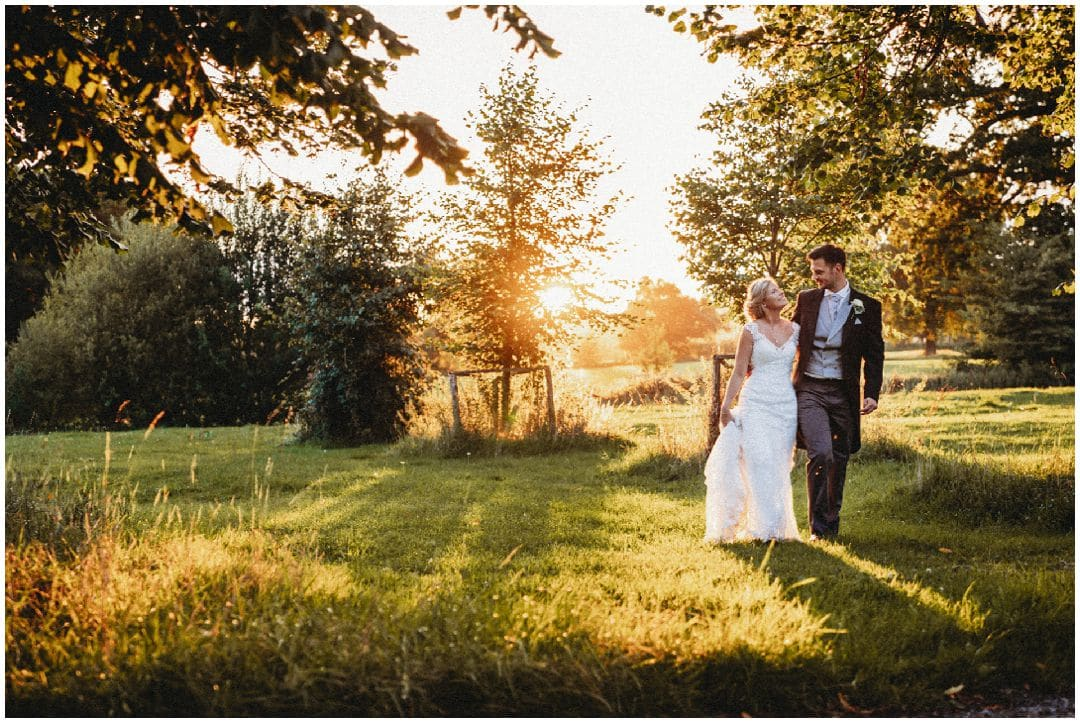 Loseley Park Wedding Photography sunset
